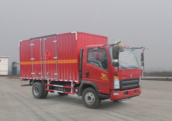 中国重汽 HOWO悍将 141马力 4×2 易燃液体厢式运输车(ZZ5047XRYF341CE145)