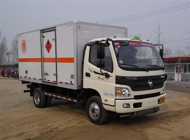 福田汽车 欧马可 141马力 4×2 易燃气体厢式运输车(BJ5049XRQ-A3)