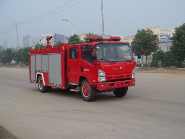 湖北江南 江特 190马力 4×2 水罐消防车(JDF5102GXFSG30)