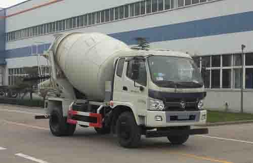 福田汽车 欧曼ETX 140马力  4×2 混凝土搅拌运输车(BJ5163GJB-FA)