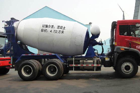 一汽解放 J6 336马力 6×4 混凝土搅拌运输车(CA5250GJBP2K15T1E4A80)