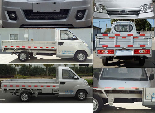 开瑞汽车 2016款 基本型 优劲 82马力 汽油 栏板式 单排 载货车(SQR1021H08)
