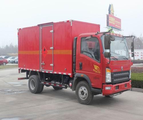 中国重汽 HOWO悍将 141马力 4×2 易燃气体厢式运输车(ZZ5047XRQF341CE145)