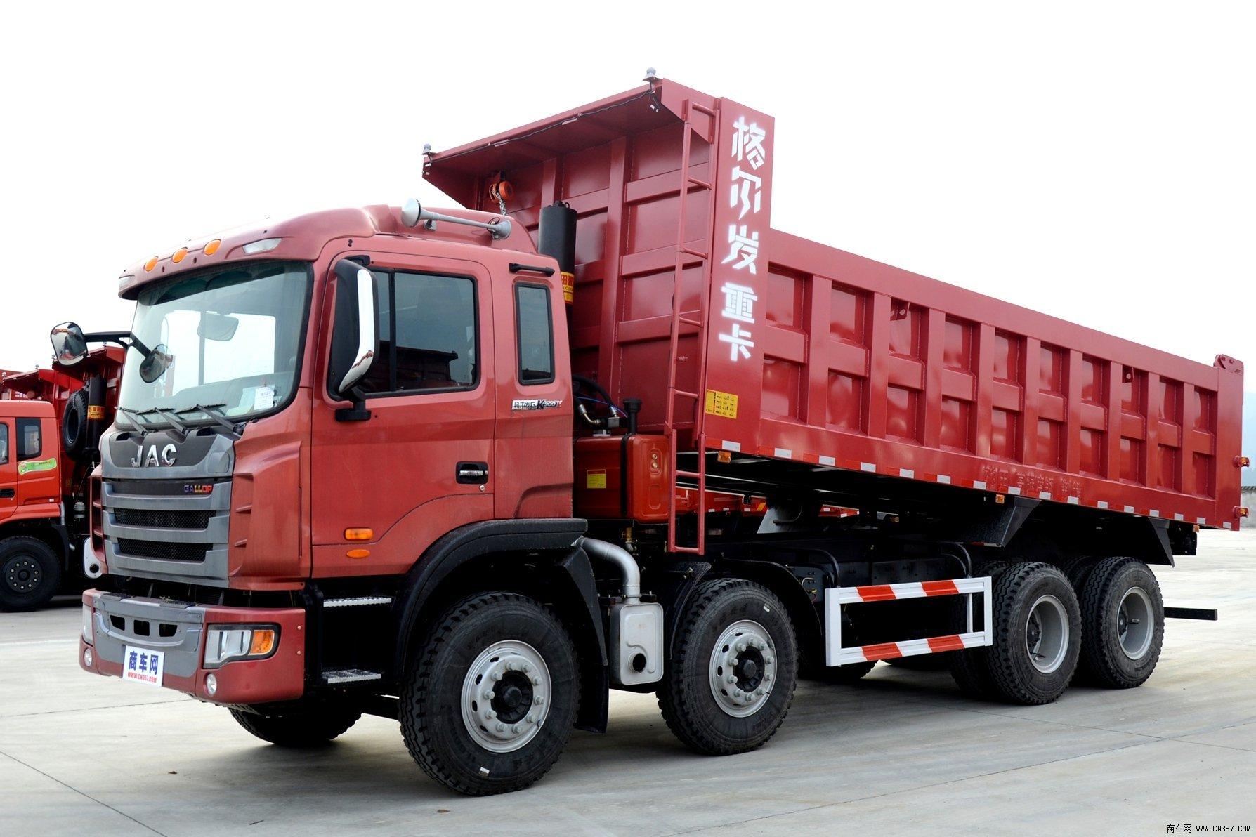 江淮汽车 格尔发k系 重卡 300马力 8×4 自卸车 hfc3311p1k4h32f