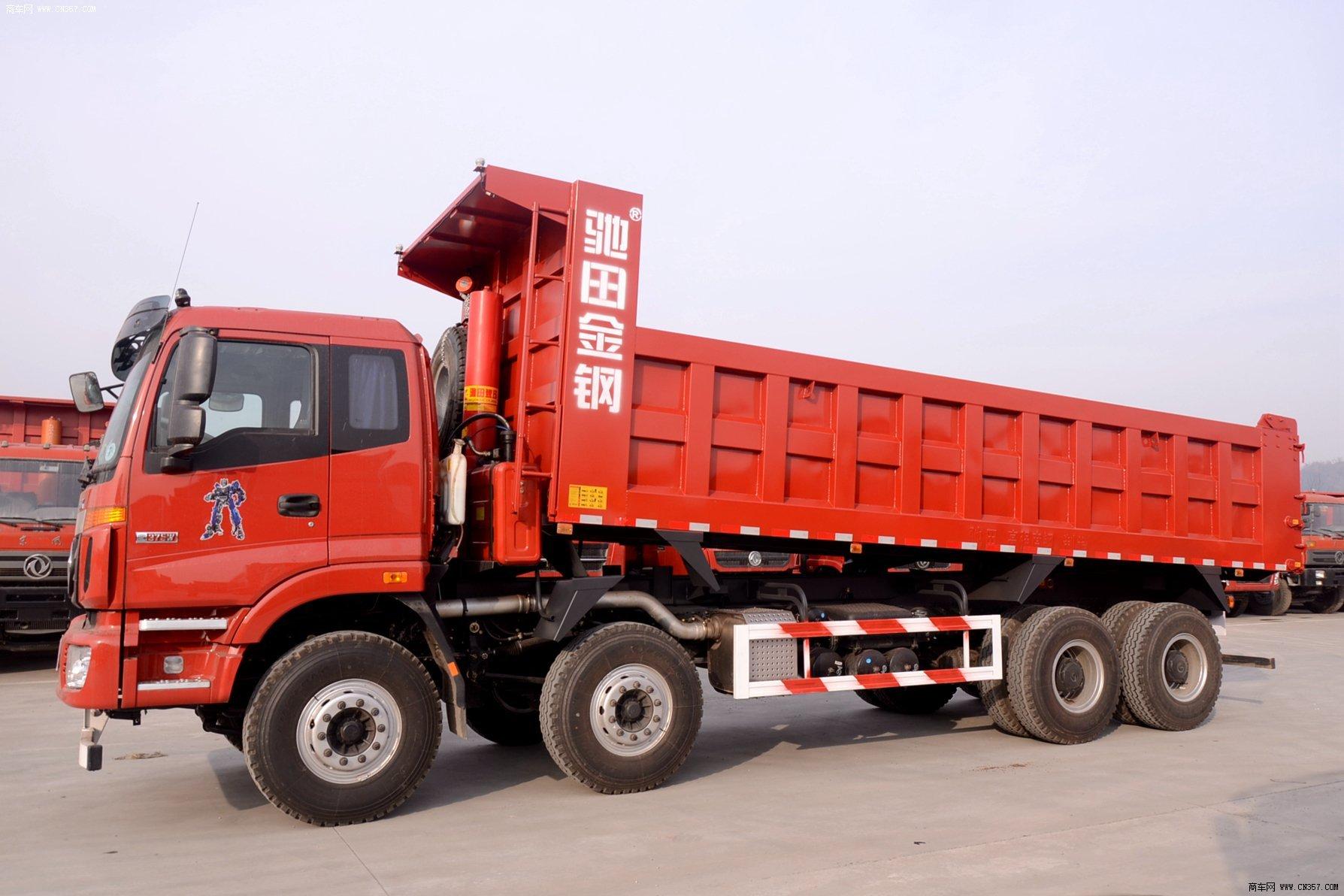 福田 欧曼etx 重卡 375马力 8×4 自卸车 bj3313dmpkc-xh图片