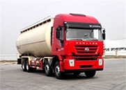 杰狮C100 390马力 8×4 低密度粉粒物料运输车(CQ5316GFLHTVG466H)