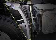 东风天龙大力神天锦三环征腾T360三环昊龙T260前轮后挡泥板皮支架