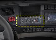 东风天龙天锦大力神153紫罗兰三环暖风空调控制器空调控制器面板