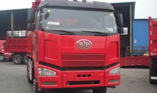 一汽解放J6欧四自卸车-一汽首批欧四J6自卸车正式投放俄罗斯市场高清图片