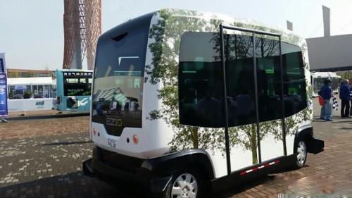 一辆无人驾驶   客车   现身四川成都,这辆无人驾驶客车不高清图片