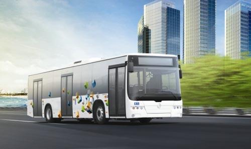金旅xml6125混合动力客车 高清图片