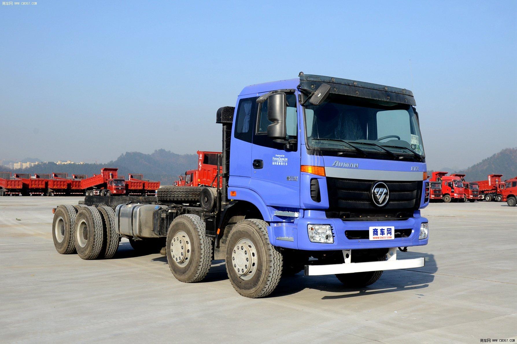 福田汽车 欧曼etx 重卡 375马力 8×4 自卸车 bj3313dmpkc-xh图片