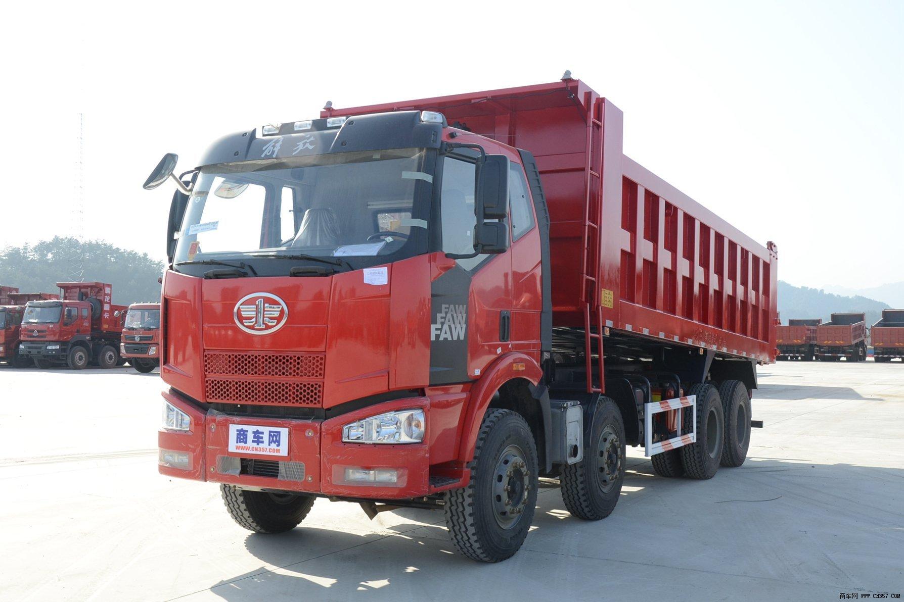一汽解放 解放j6p 重卡 280马力 8×4 自卸车 ca3310p63k2l3t4e