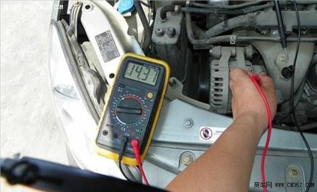 """再将量程为20a左右的直流电流表正极接发电机""""电枢"""""""